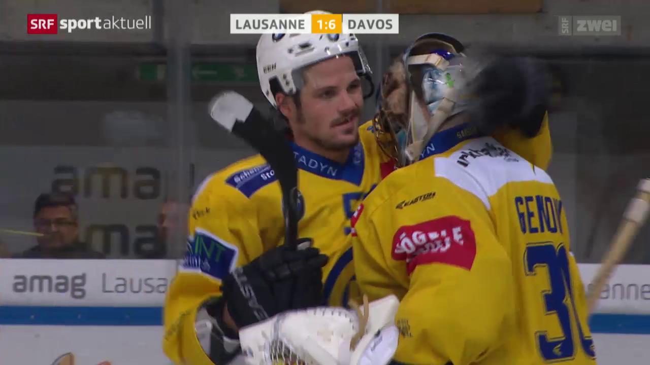 Eishockey: NLA, Lausanne - Davos