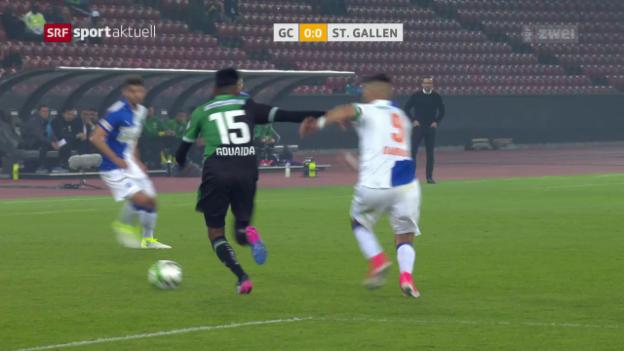 Video «GCs Caio und Dabbur schiessen den FCSG ab» abspielen