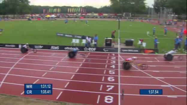 Video «Leichtathletik: 800-m-Rennen von Marcel Hug (unkommentiert)» abspielen