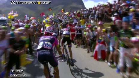 Video «Rad: Tour de France; Etappe 18, Glandon» abspielen