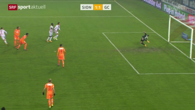Video «Fussball: Super League, Sion - GC» abspielen
