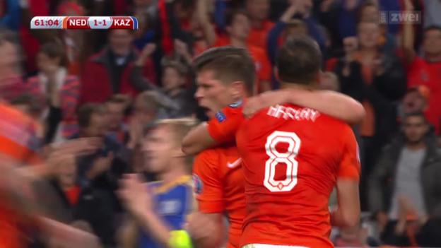 Video «Fussball: EM-Quali, Niederlande - Kasachstan» abspielen
