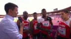 Video «Leichtathletik-EM: Interview der Schweizer Staffel-Männer» abspielen
