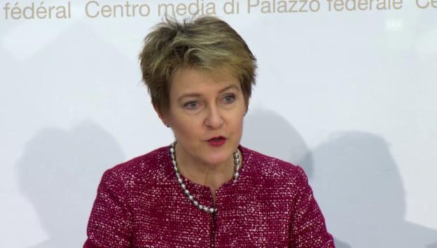 Video «Medienkonferenz mit Justizministerin Sommaruga» abspielen