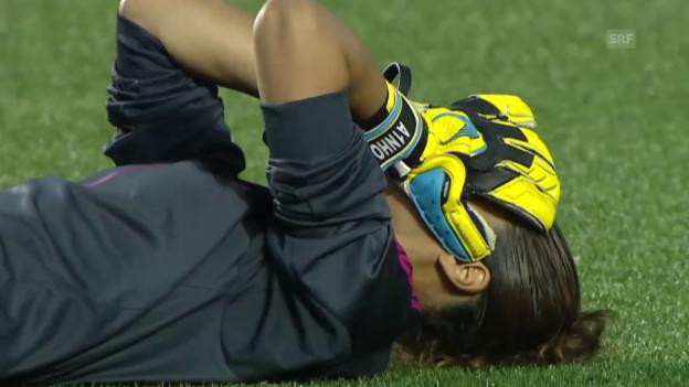 Video «Fussball: Frauen-WM, Zusammenfassung Spanien - Südkorea» abspielen