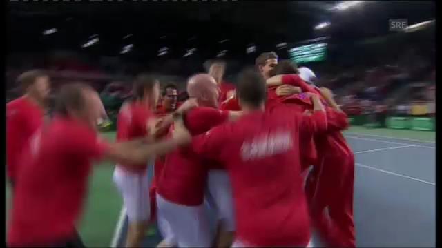 Kanada schlägt Italien - Raonics Matchball gegen Seppi.