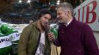 Video «Eishockey: Spengler Cup, VIP-Gespräch mit Bastian Baker» abspielen