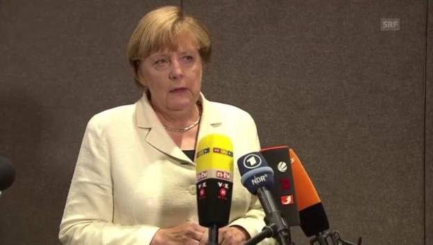 Laschar ir video «Merkel: «Sehr unzufrieden mit dem Ausgang der Landtagswahlen»»