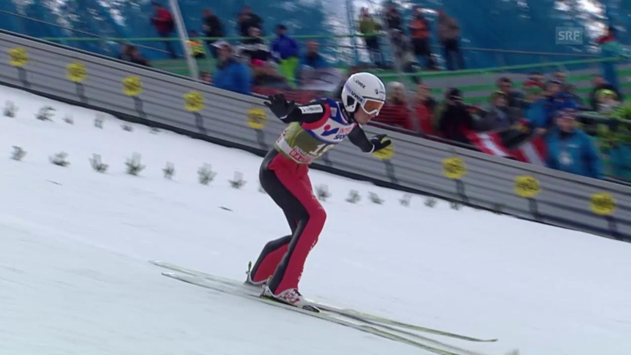 Skispringen: Vierschanzentournee, Qualifikation für das 3. Springen in Innsbruck, die Sprünge von Kilian Peier und Luca Egloff