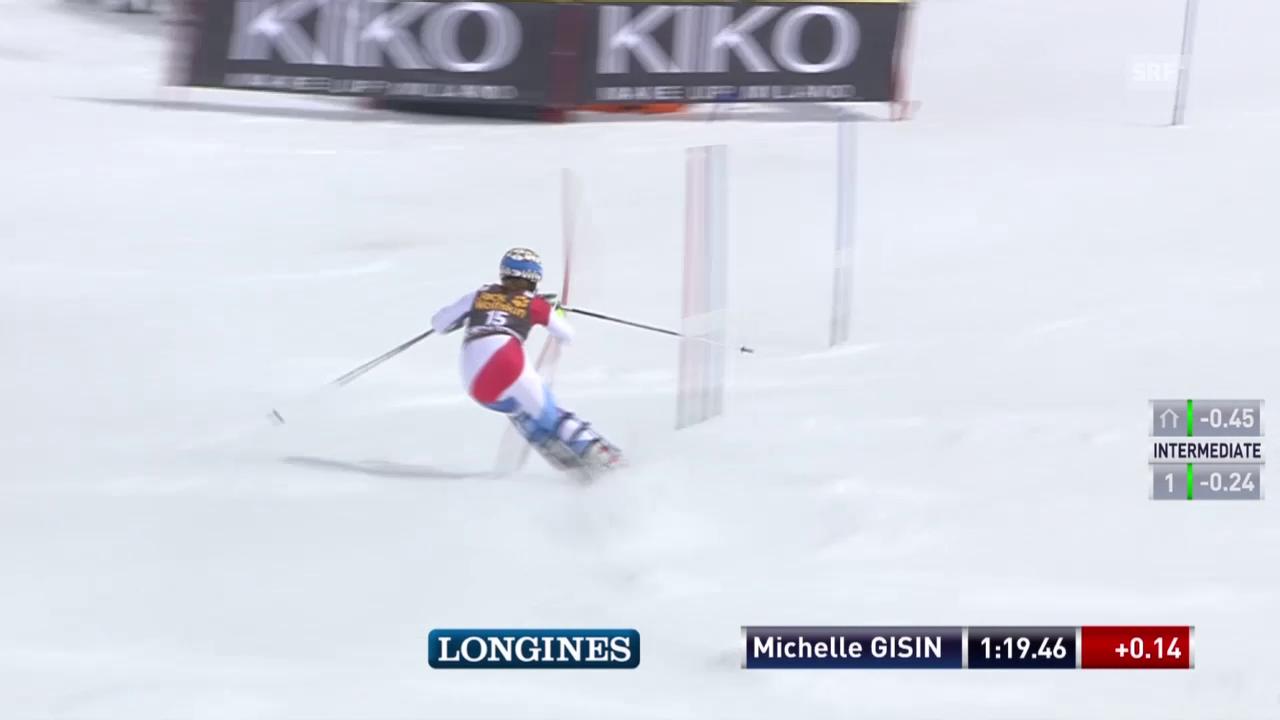 Ski: Slalom Frauen, Méribel, 2. Lauf Michelle Gisin