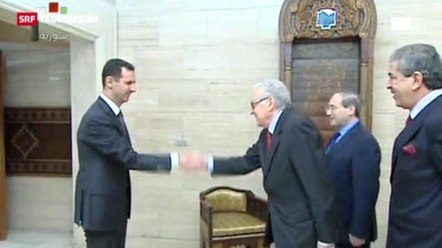 Brahimi bei Präsident Assad (Tagesschau, 24.12.2012)