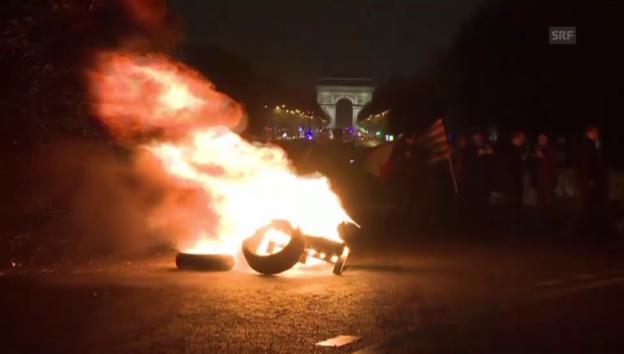 Video «Taxifahrer protestieren in Paris» abspielen