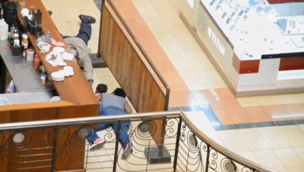 Video «Familie hält sich während des Terrorangriffs versteckt – ein Polizist rettet sie.» abspielen