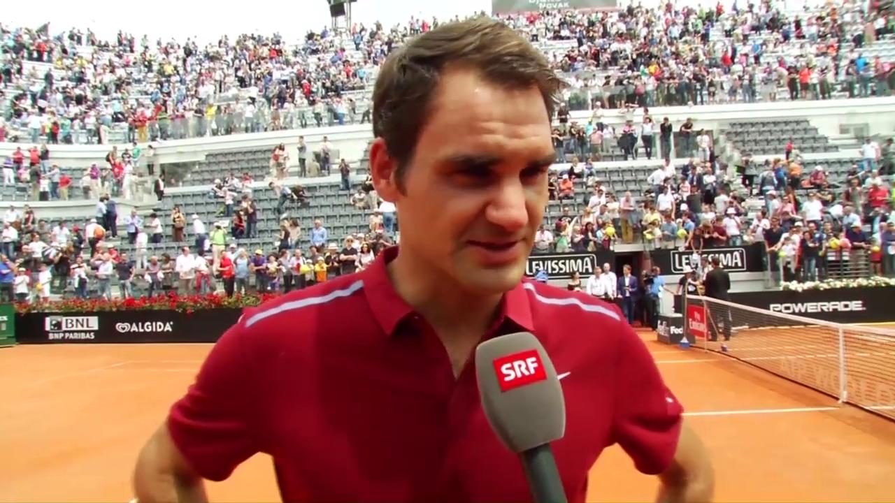 Federer: «Habe erst am Morgen entschieden, heute anzutreten»