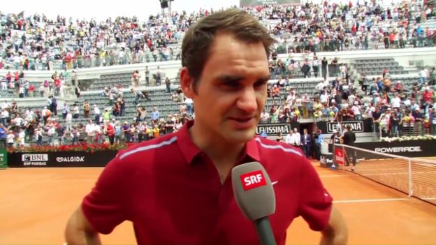 Video «Federer: «Habe erst am Morgen entschieden, heute anzutreten»» abspielen