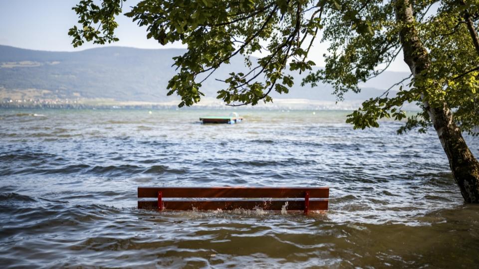 Campingplatz in Muntelier steht noch immer unter Wasser