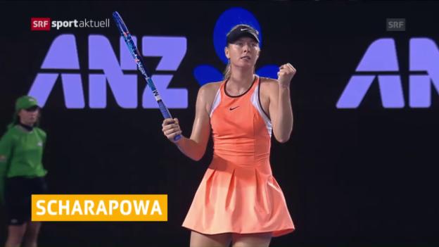 Video «Scharapowa darf im April wieder spielen» abspielen