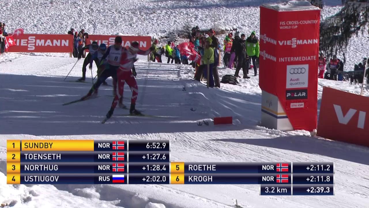 Langlauf: Tour de Ski, Zusammenfassung 3. Etappe Männer