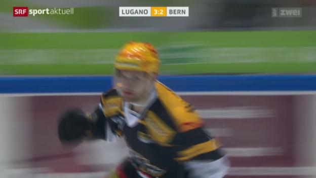Video «Eishockey: Lugano-Bern» abspielen