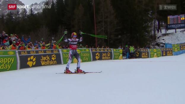 Video «Ski: Riesenslalom Männer in Alta Badia» abspielen