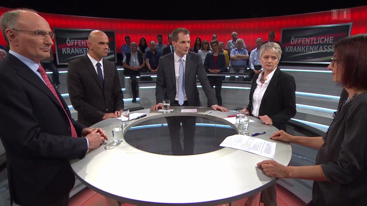 Abstimmung-Arena: Eine Krankenkasse für alle?
