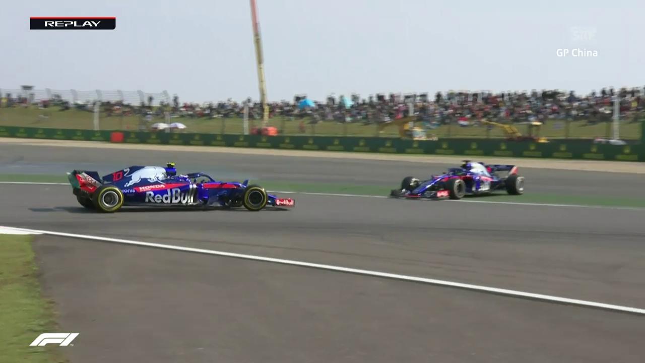 Peinlich: Toro Rosso schiessen sich gegenseitig ab