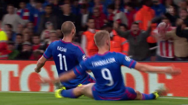 Video «Fussball: CL, Tor Alfred Finnbogason Arsenal - Olympiakos» abspielen