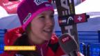 Video «Ski-WM Vail/Beaver Creek, Inti Holdener nach 1. Lauf» abspielen