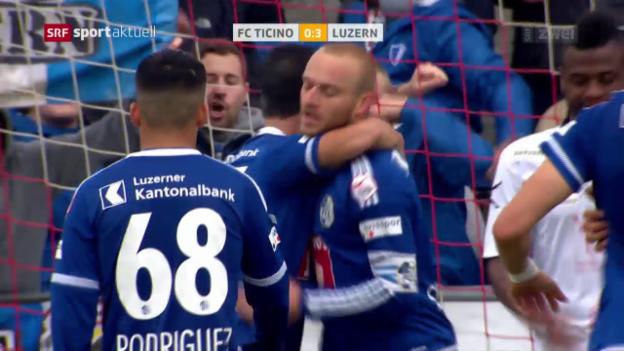 Video «Luzern mit späten Toren gegen Le Locle» abspielen