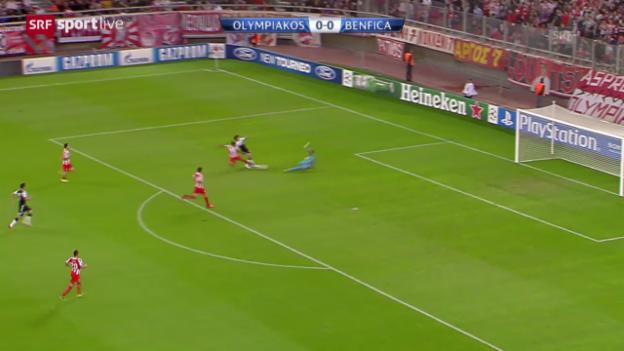 Video «CL: Olympiakos Piräus - Benifca Lissabon («sportlive»)» abspielen