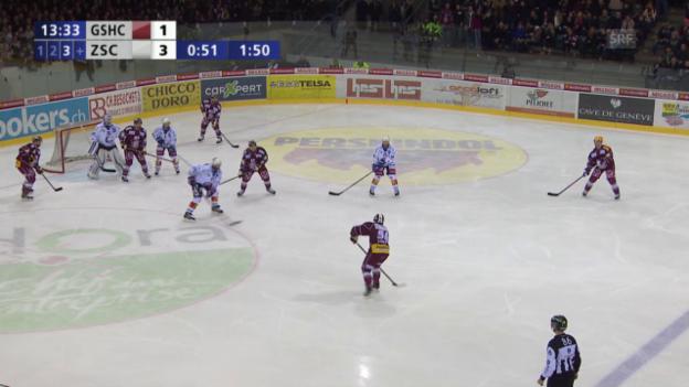 Video «Eishockey: Genf-ZSC, dreifache Überzahl» abspielen