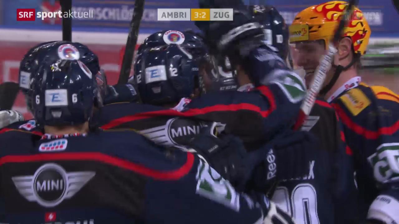Eishockey: NLA, Ambri - Zug