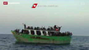 Video «EU sagt Schlepperbanden im Mittelmeer den Kampf an» abspielen