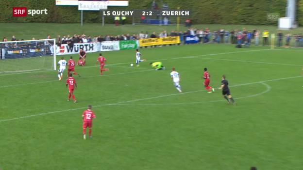 Video «Cup: LS Ouchy - FC Zürich» abspielen