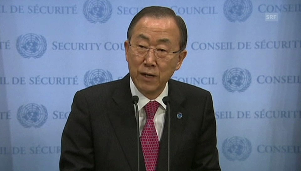 Ban Ki Moon zu den Opfern