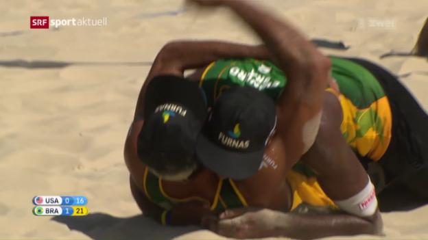Video «Brasilianischer Beachvolley-Sieg in Gstaad» abspielen