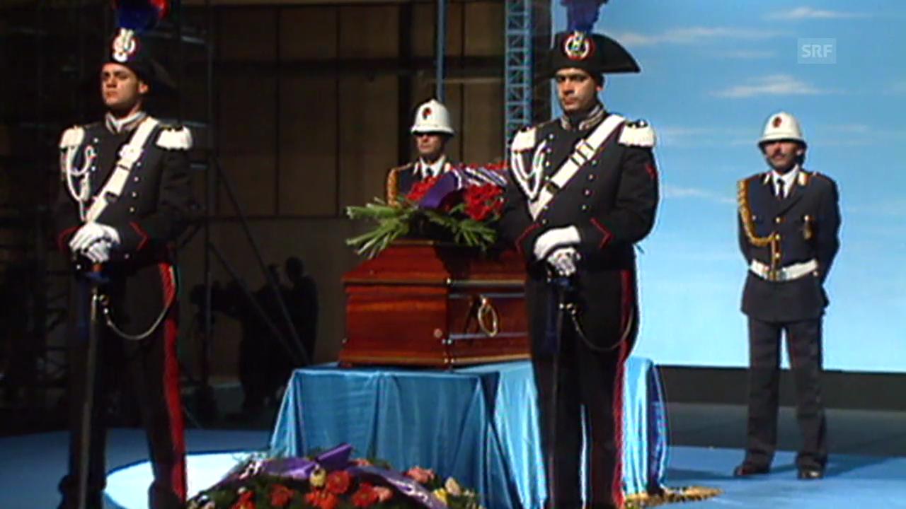 Trauerfeier zum Tod Fellinis (Tagesschau, 2.11.1993)