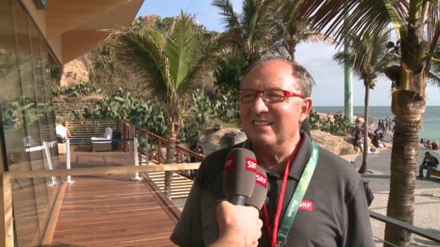 Video «Beni Thurnheer vor der Eröffnungsfeier in Rio» abspielen