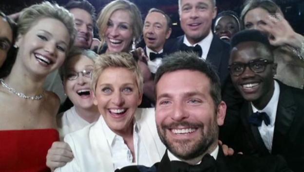 Video «Ellen DeGeneres' Selfie-Aktion» abspielen