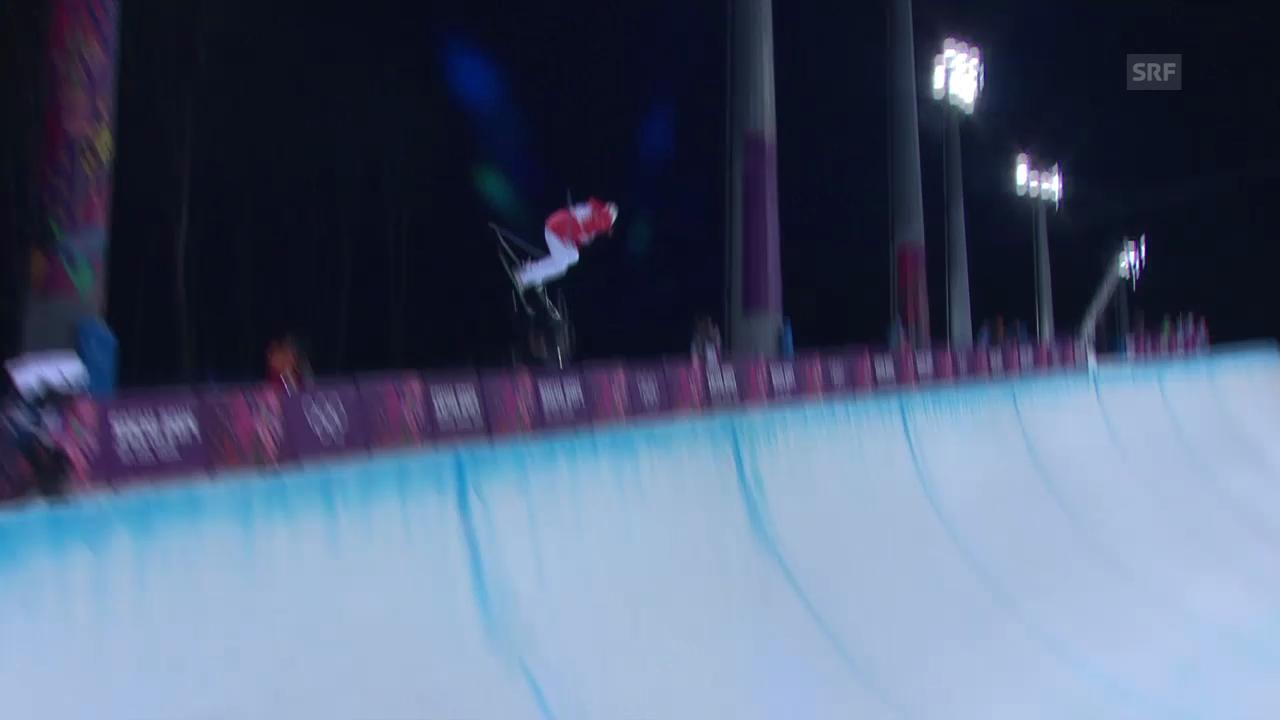 Ski Freestyle: Halfpipe Frauen, 2. Qualifikations-Run von Mirjam Jäger (sotschi direkt, 20.02.2014)