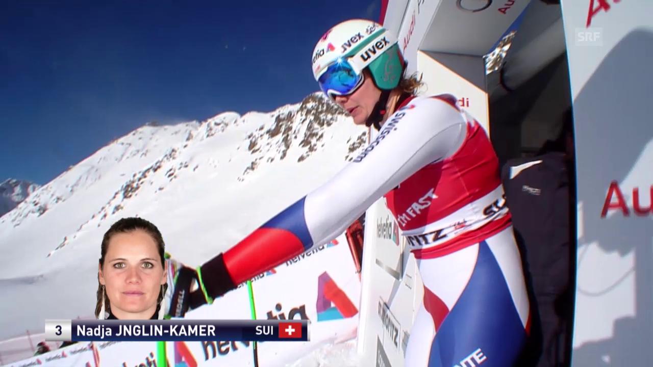 Ski alpin: Weltcup der Frauen, Abfahrt in St. Moritz, Nadja Jnglin-Kamer