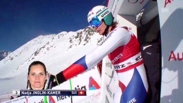Video «Ski alpin: Weltcup der Frauen, Abfahrt in St. Moritz, Nadja Jnglin-Kamer» abspielen