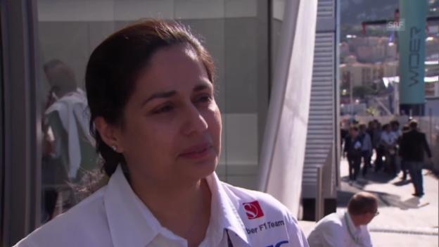 Video «Formel 1: Sauber-Teamchefin Kaltenborn über die Reifen-Tests von Mercedes» abspielen