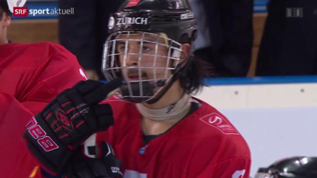 Video «Eishockey: U18-WM, Halbfinal Schweiz - Finnland» abspielen
