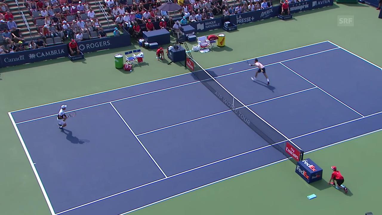 Kein Vorbeikommen am Netz: Federer deckt alles ab
