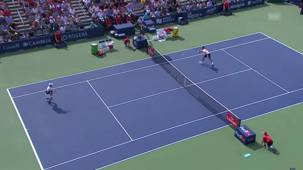 Video «Kein Vorbeikommen am Netz: Federer deckt alles ab» abspielen