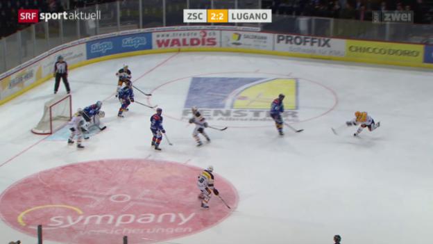 Video «Eishockey: ZSC Lions - Lugano» abspielen