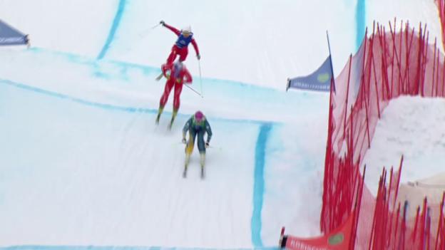 Video «Freestyle-WM: Skicross, Frauen, Achtelfinal Fanny Smith» abspielen