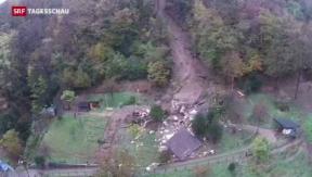 Video «Schlammlawine im Tessin fordert zwei Todesopfer» abspielen