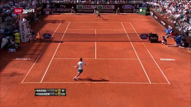 ATP Rom: Final Federer - Nadal («sportaktuell»)